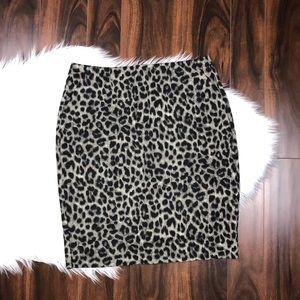 CAbi 3402 Leopard Animal Print Stretch Skirt